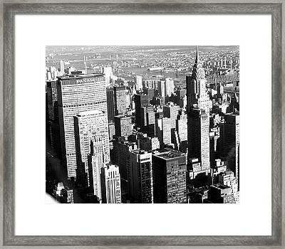 Midtown Manhattan 1972 Framed Print by Steve Archbold