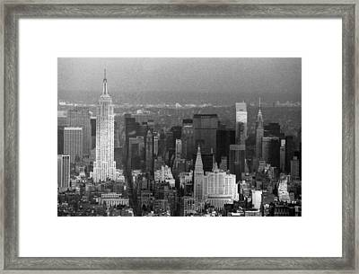 Midtown Manhattan 1980s Framed Print by Gary Eason