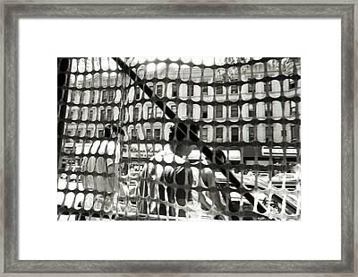 Midtown Manhattan 1987 Framed Print by Leonid Rozenberg