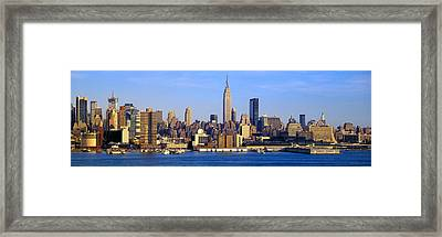 Midtown Manhattan From New Jersey Framed Print by Panoramic Images