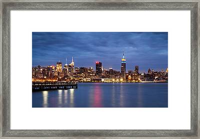 Midtown Manhattan Framed Print by Mihai Andritoiu