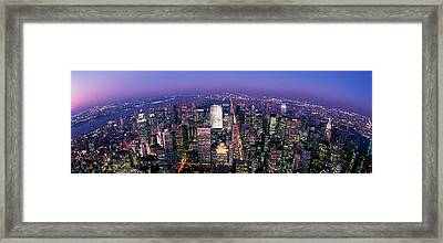 Midtown Manhattan, New York, Nyc, New Framed Print