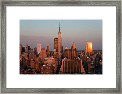 Midtown Manhattan, New York, Usa Framed Print