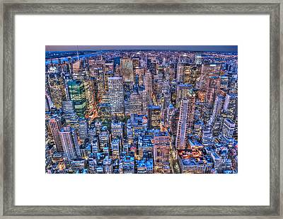 Midtown Manhattan Skyline Framed Print by Randy Aveille