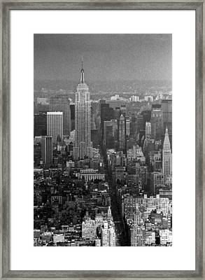 Midtown Manhattan Winter 1980s Framed Print