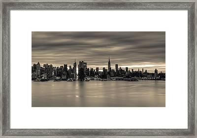 Midtown Morning Framed Print by David Hahn