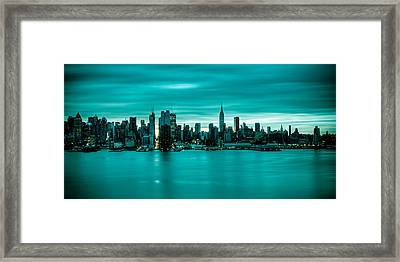 Midtown Pano Framed Print by David Hahn