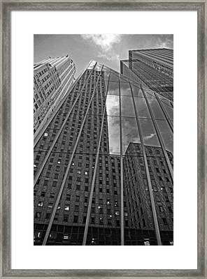 Midtown Reflections Framed Print by Mike Martin