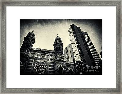 Midtown Synagogue New York City Framed Print by Sabine Jacobs