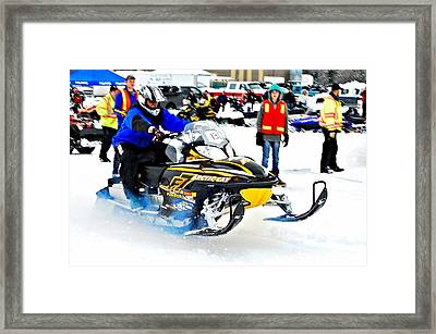 Midway Bc Snow Drags - 28 Framed Print