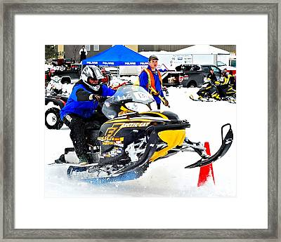 Midway Bc Snow Drags - 30 Framed Print