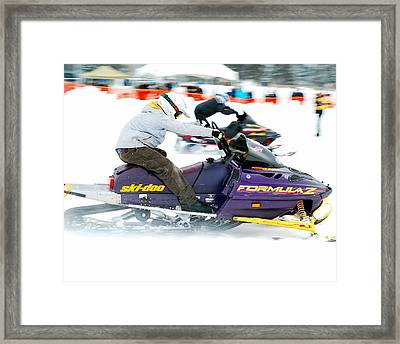 Midway Bc Snow Drags - 31 Framed Print