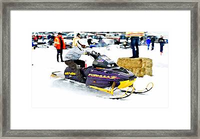 Midway Bc Snow Drags - 33 Framed Print