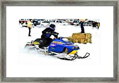 Midway Bc Snow Drags 2013 - 4 Framed Print by Don Mann