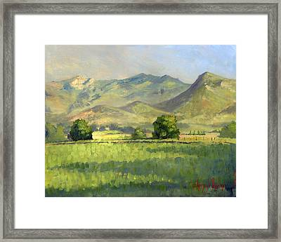 Midway Between Heaven And Earth Framed Print