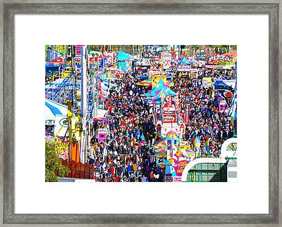 Midway Crowd Framed Print by David Lee Thompson