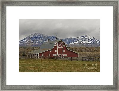 Midway Ranch Barn Framed Print