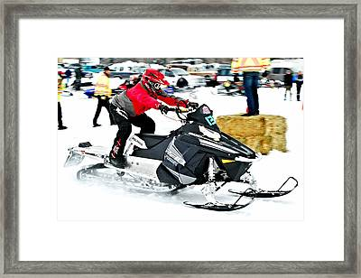 Midway Snow Drags - 20 Framed Print by Don Mann
