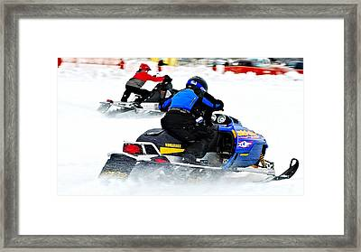 Midway Snow Drags - 21 Framed Print by Don Mann