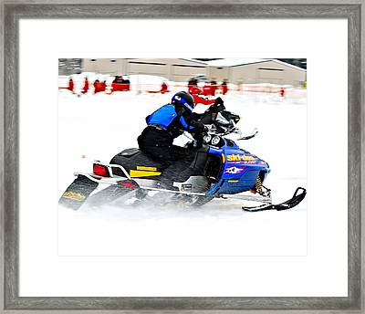Midway Snow Drags - 22 Framed Print by Don Mann