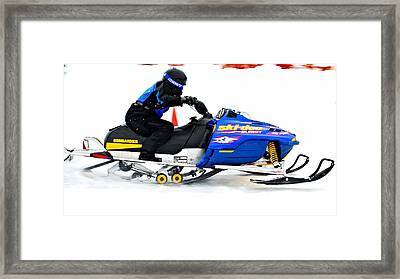 Midway Snow Drags - 23 Framed Print by Don Mann