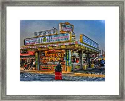 Framed Print featuring the photograph Midway Steak House by Debra Fedchin