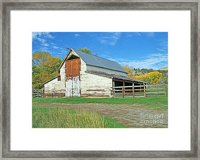 Midway Vintage Barn Hotchkiss Co Framed Print