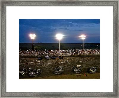 Midwest Demo Derby Framed Print