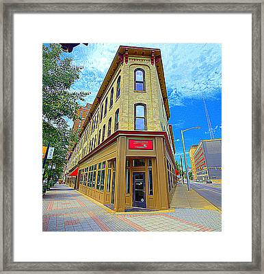 Midwest Flat Iron Building Framed Print by Garry Schmidt