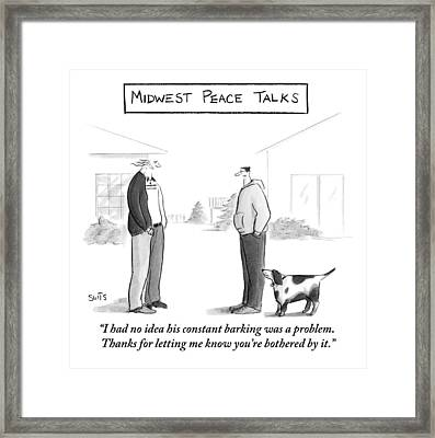 Midwest Peace Talks Framed Print