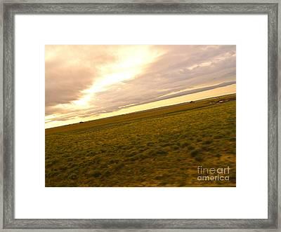 Midwest Slanted Framed Print