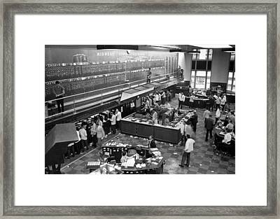 Midwest Stock Exchange Framed Print by Underwood Archives