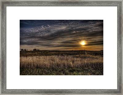Midwest Sunrise Framed Print by Jeff Burton
