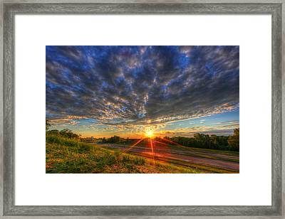 Midwest Sunset After A Storm Framed Print