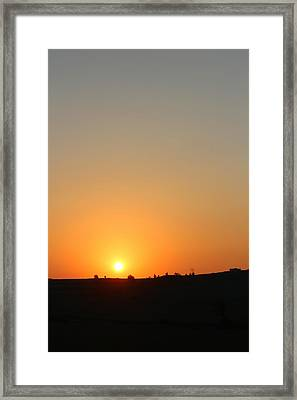 Midwest Sunset Framed Print by Angie Phillips aka Angieclementine