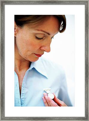 Midwife Framed Print by Ian Hooton/science Photo Library