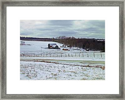 Midwinter On The Farm Framed Print