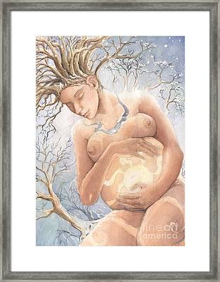 Midwinter Promise Framed Print by Liz Ellis