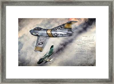 Mig Alley Framed Print by Peter Chilelli
