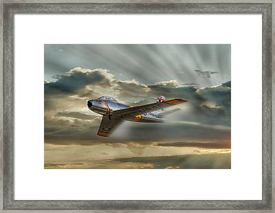 Mig Hunter Framed Print by Peter Chilelli