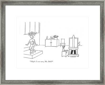 Might I Rest Now Framed Print by Otto Soglow