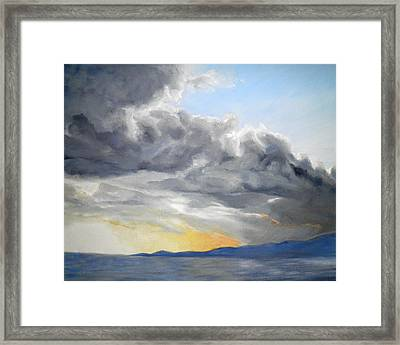 Mighty Clouds Framed Print