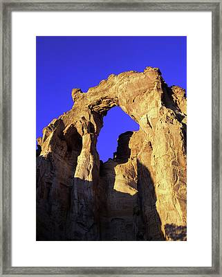 Mighty Grosvenor Arch In Grand Framed Print by Jerry Ginsberg