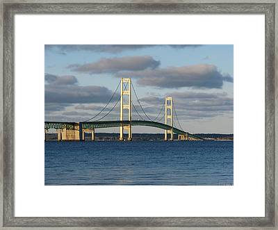 Mighty Mac In December Framed Print by Keith Stokes