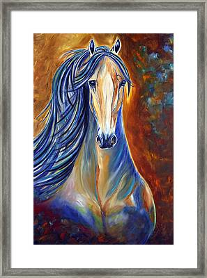 Framed Print featuring the painting Mighty Mare Horse by Jennifer Godshalk