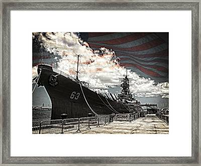 Mighty Mo U.s.s. Missouri Framed Print