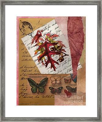 Mighty Oak Little Acorn Framed Print by Tamyra Crossley