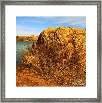Mighty Rock Framed Print by Mickey Harkins