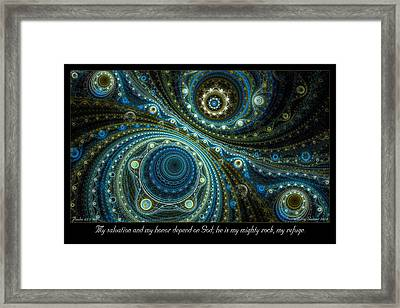 Mighty Rock Framed Print