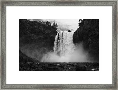 Mighty Snoqualmie Framed Print by Mark Kiver